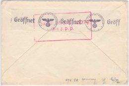 WKII, Feldpost, Brief Mit Rs Verschlußstreifen Einer Feldpostprüfungsstelle U. Rechteckstempel (R1012) - Allemagne