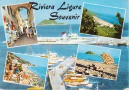 RIVIERA LIGURE - ANIMATA - NAVI E BARCHE - VIAGGIATA 1963 - Italia