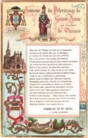 Souvenir Du Pélerinage De Sainte-Anne Au Diocèse De Vannes - Litanies De Sainte-Anne TBE 2 Scans - Devotion Images