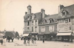 76 Dieppe Le Pollet La Place Des Greves Cpa Carte Animée Boutiques Commerces - Dieppe