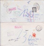6 Briefe In Das Ausland Mit Bahnpoststempeln U.diversen Postalischen Vermerken (1x Posteigener Hinweiszettel) (R1014) - BRD