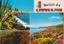 SANTO STEFANO AL MARE - VEDUTINE MULTIVUES - VIAGGIATA 1986 - Italia