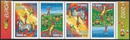 2002 Azerbaijan Europa: Circus Booklet Strip (** / MNH / UMM) - 2002