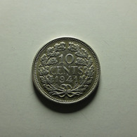 Netherlands 10 Cent 1941 Silver - [ 3] 1815-… : Regno Dei Paesi Bassi
