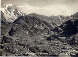 Courmayeur - E Grandes Jorasses - Alberghi E Ville - Formato Grande Viaggiata – E 14 - Aosta