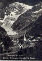 Courmayeur - Frazione Entreves Ed Il M.bianco - Formato Grande Viaggiata – E 14 - Aosta