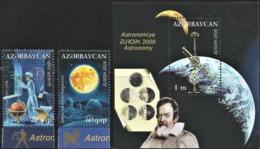 2009 Azerbaijan Europa: Astronomy Set And Souvenir Sheet (** / MNH /UMM) - Europa-CEPT