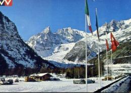 Courmayeur - Monte Bianco Piazzale Partenza Funivia Val Veny - Formato Grande Non Viaggiata – E 14 - Aosta