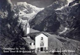 Courmayeur - Notre Dame De La Guerison Il M.biancoe Il Ghiacciaio Della Brenva - Formato Grande Viaggiata Mancante Di Af - Aosta