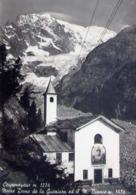 Courmayeur - Notre Dame De La Guerison Il M.biancoe Il Ghiacciaio Della Brenva - Formato Grande Viaggiata – E 14 - Aosta
