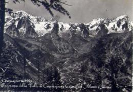 Courmayeur - Panorama Dalla Valle Di Courmayeur E Catena Del Monte Bianco - Formato Grande Viaggiata – E 14 - Aosta