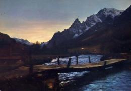 Courmayeur - Tramonto In Val Ferret - Formato Grande Non Viaggiata – E 14 - Aosta