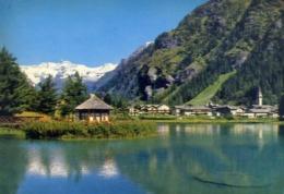 Gressoney - Aosta - Panorama E Laghetto - Sullo Sfondo Il M.rosa - Formato Grande Non Viaggiata – E 14 - Aosta