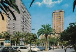 SASSARI-PIAZZA CAVALLOTTI-AUTO-CAR-VOITURES=MINI MINOR=-CARTOLINA VERA FOTOGRAFIA VIAGGIATA IL 18-3-1970 - Sassari