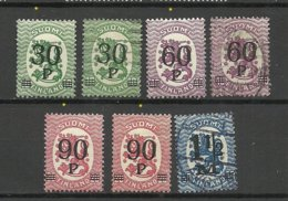 FINLAND FINNLAND 1921 Michel 107 - 110 */o - Neufs