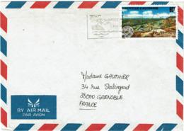 LCTN58/2 -NOUVELLE CALEDONIE LETTRE AVION NOUMEA / GRENOBLE 1995 - Nouvelle-Calédonie