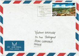 LCTN58/2 -NOUVELLE CALEDONIE LETTRE AVION NOUMEA / GRENOBLE 1995 - New Caledonia