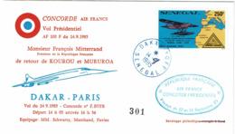 LCTN58/2 - SENAGAL CONCORDE VOL PRESIDENTIEL 14/9/1985 - Senegal (1960-...)