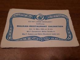 Old Brochure, Prospect - Balkan-Restaurant Dalmatien, Osnabruck - Andere Verzamelingen