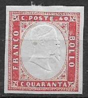 REGNO D'ITALIA 1861 EMISSIONE PROVINCE NAPOLETANE EFFIGE V.EMANUELE II SASS. 4 MLH VERMIGLIO VF - Ungebraucht
