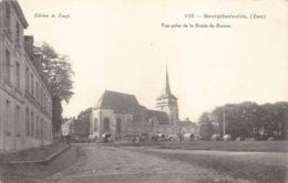 France 27 Eure Bourgtheroulde Vue Prise De La Route De Rouen église Rare    Barry 702 - Bourgtheroulde