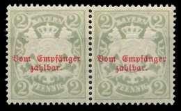 BAYERN PORTOMARKEN Nr 13By Postfrisch WAAGR PAAR X891CFA - Bayern