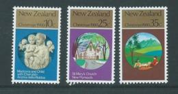 New Zealand 1980 Christmas Set Of 3 MNH - Nueva Zelanda