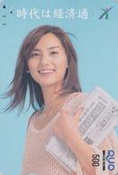 Carte Prépayée Japon - FEMME / PRESSE JOURNAL - GIRL / PRESS Japan Prepaid QUO Card - Frau - 6262 - Personaggi