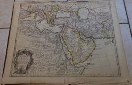 Rare CARTE GÉOGRAPHIQUE , A MAP OF TURKY ARABIA & PERSIA , GUILLAUME DE L'ISLE , London , John Senex, 1711 -  68 X 53 Cm - Carte Geographique