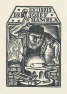 Ex Libris Dr. Josef Hamrla - Michael Florian (1911-1984) - Ex-libris