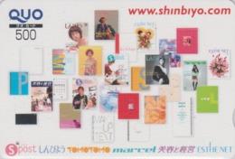 Carte Prépayée Japon - FEMME / PRESSE JOURNAL - GIRL / PRESS Japan Prepaid QUO Card - Frau - 6265 - Personaggi