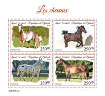 Djibouti 2019  Fauna Horses S201910 - Djibouti (1977-...)