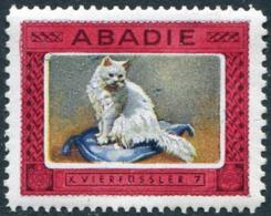 CAT Germany ABADIE Katze Chat Kat Gato Gatto Vignette Poster Reklamemarke Cinderella Cigarettes Tobacco Tabak Zigaretten - Domestic Cats