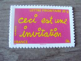 """Timbre De Message """"ceci Est Une Invitation"""" - Autoadhésif - N° 204 (lettre Prioritaire 20g) - Année 2008 - Neuf** - France"""