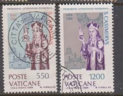 Vatican City S 762-63 1984 500th Death Anniversary Of St Casimiro.used - Vatikan