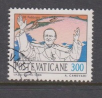Vatican City S 772 1984 Journeys Of Pope John Paul II , 300 Lire Used - Vatikan