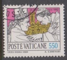 Vatican City S 775 1984 Journeys Of Pope John Paul II , 550 Lire Used - Vatikan