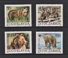 Yugoslavia 1988 Brown Bear Set Of 4 WWF MNH - 1945-1992 Socialist Federal Republic Of Yugoslavia