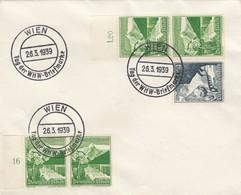 Blanko Sonderstempelbeleg 1939: Wien: Tag Der WHW-Briefmarke - Alemania