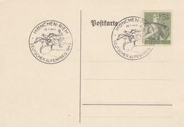 Blanko Sonderstempelbeleg 1943: München-Riem: Deutscher Alpenpreis 1943 - Germania
