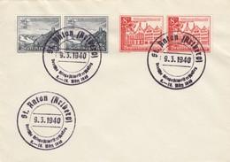 Blanko Sonderstempelbeleg 1940: St. Anton: Deutsche Kriegsskimeisterschaften - Alemania