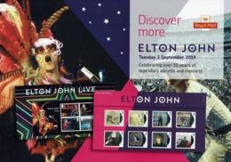 ROYAL MAIL COMMUNICATION STAMPS TIMBRES EMISSION ELTON JOHN LEGENDARY ALBUMS AND CONCERT - Celebrità
