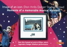 ROYAL MAIL COMMUNICATION IMAGE OF AN ICON ELTON JOHN MEMENTO OF A MEMORABLE MUSICAL MOMENT DODGER STADIUM - Altri