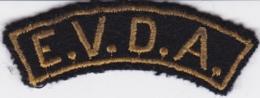 INSIGNE DE MANCHE DE TYPE BANANE E.V.D.A ENGAGE VOLONTAIRE PAR DEVANCEMENT D APPEL - Patches