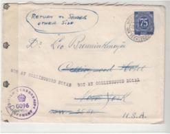 Germany / British Post War Censorship / U.S. / New York Hotels / Returned Mail - Germany