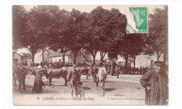 37 - LIGUEIL - Champ De Foire - Très Animée - 1909 (E48) - France