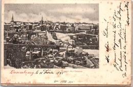 Luxembourg - Montée De Clausen Sous La Neige. (oblit 1898) - Luxemburg - Town