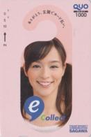 Carte Prépayée Japon - FEMME Pub Transport SAGAWA - GIRL Japan Prepaid QUO Card - FRAU - 6287 - Personaggi