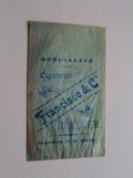 FRANCISCO & C° - D'ALGER / Echantillon 6 Pour 0.10 - Le Paquet De 25 Cigarettes ( Zie / Voir / See Photo ) ! - Zigarettenzubehör