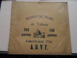 A.B.V.F. Américain Fin - Manufacture De Tabacs / 250 Grammes ( Sachet / Zakje ) > ( Zie / Voir / See Photo ) ! - Pouches